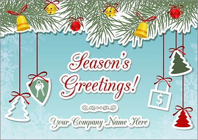 Escrow Ornaments Christmas Card (Glossy White)