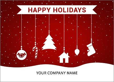 Escrow Ornaments Holiday Card (Glossy White)