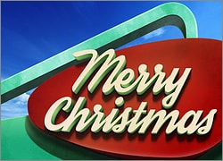 Googie Christmas Sign
