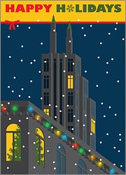 Holiday Card With Buildings