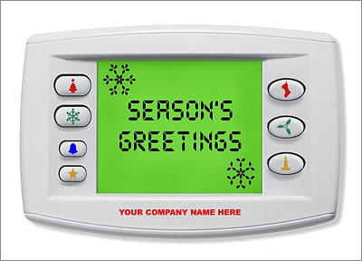 HVAC Christmas Card (Glossy White)