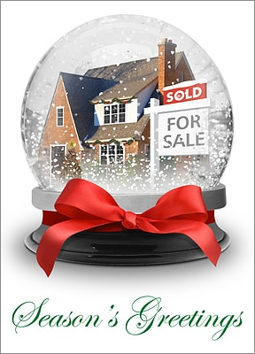 Snow Globe Realtor Card (Glossy White)