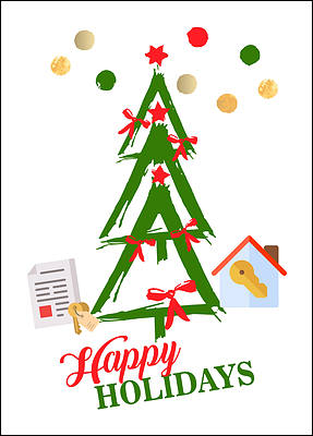 Escrow Tree Holiday Card (Glossy White)