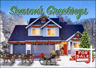 home sale christmas card glossy white - Cheapest Christmas Cards