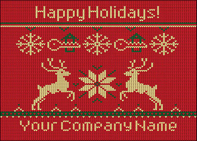 Realtors Reindeer Christmas Card (Glossy White)  Christmas Cards Sample