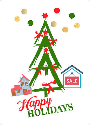Realtors Tree Holiday Card (Glossy White)